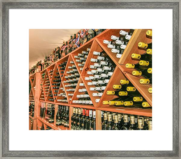 Hernders Estate Wines Framed Print