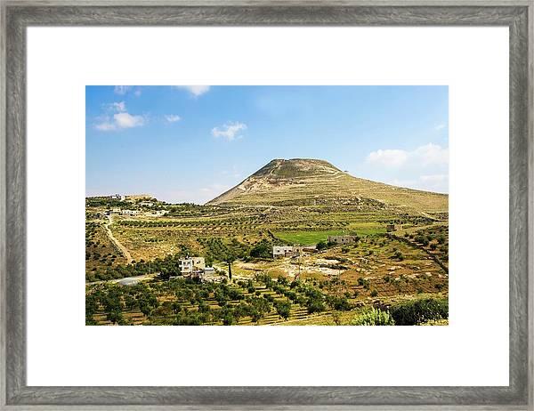 Herodion Man-made Hill Framed Print
