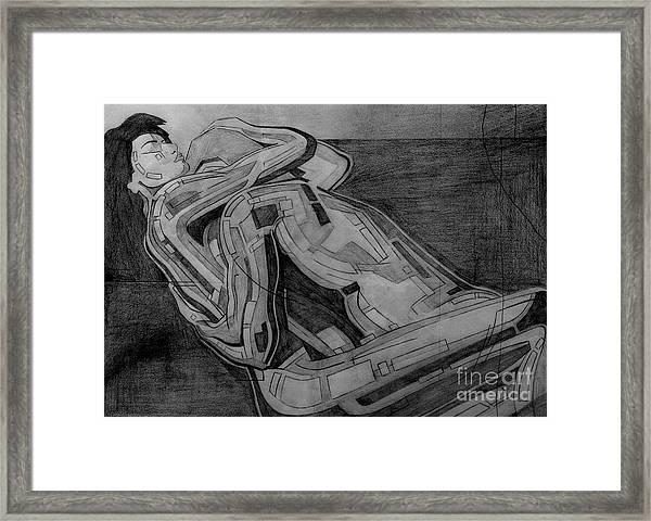 Heroes Drawing Framed Print