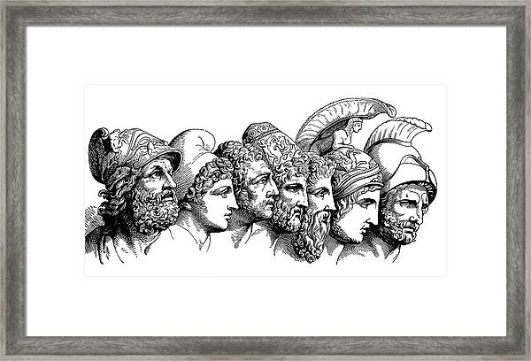 Heroes Of The Trojan War Framed Print by Bildagentur-online/th Foto/science Photo Library