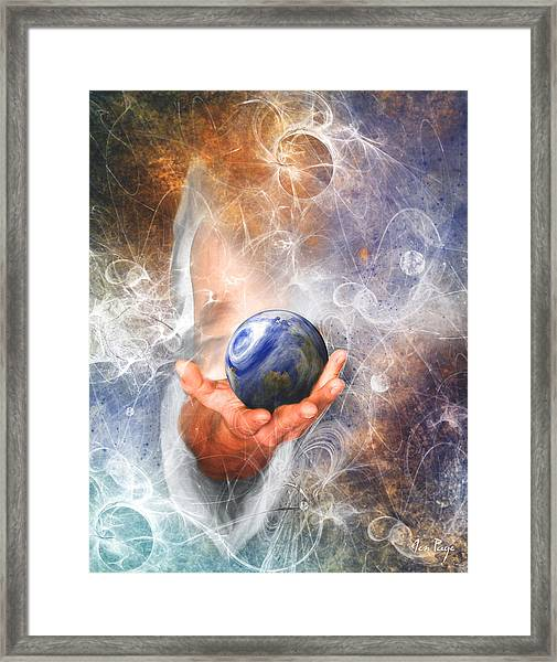 He's Got The Whole World In His Hand Framed Print