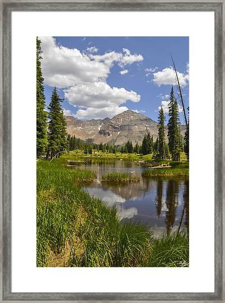 Hesperus Mountain Reflection Framed Print