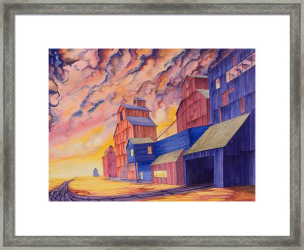 Framed Print featuring the painting Hi-line Facing West by Scott Kirby