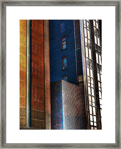 Hi Rise Abstract Framed Print