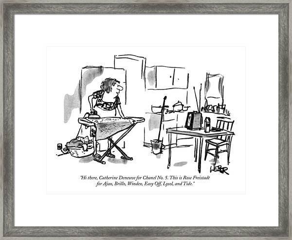 Hi There, Catherine Deneuve For Chanel No. 5 Framed Print