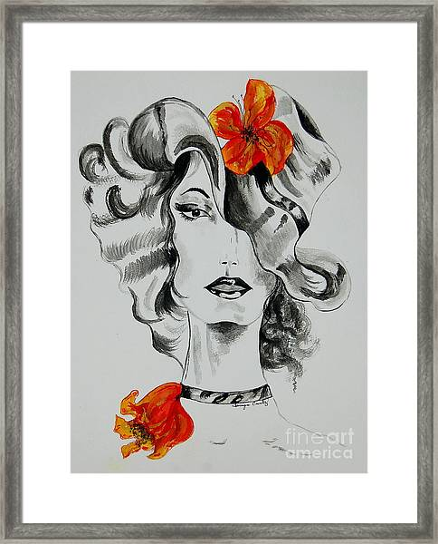 Hibiscus Fashion Framed Print