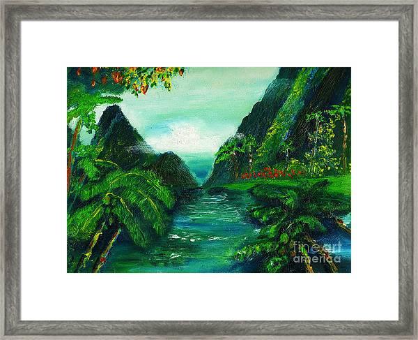 Hidaway Paradise Framed Print by Donna Chaasadah