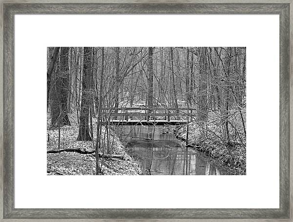 Hidden Bridge Framed Print