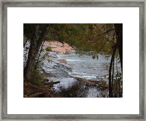 Hidden Brook Framed Print by Judith Russell-Tooth
