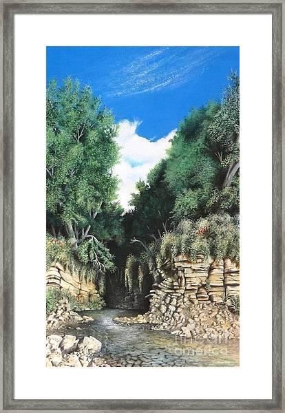 Hidden Canyon Framed Print