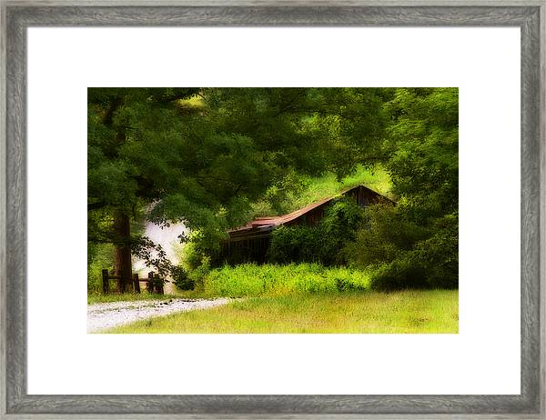 Hidden Down The Road Framed Print