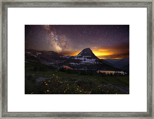 Framed Print featuring the photograph Hidden Galaxy by Dustin  LeFevre