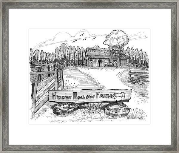 Hidden Hollow Farm 1 Framed Print
