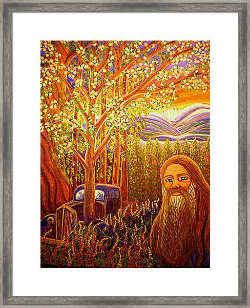 Hidden Mountain Man Framed Print