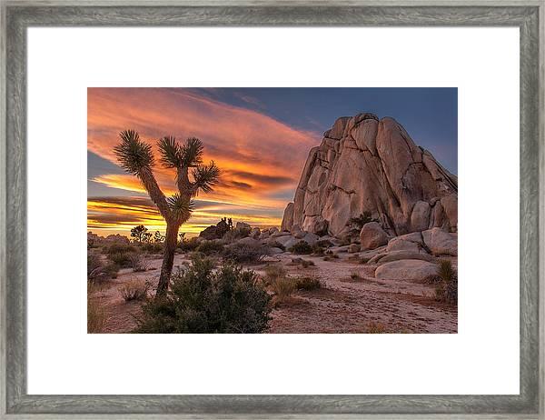 Hidden Valley Rock - Joshua Tree Framed Print