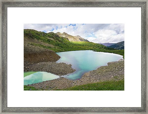 High Alpine Lake In Colorado Framed Print