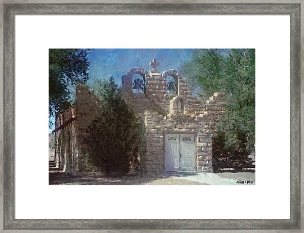 High Desert Church Framed Print