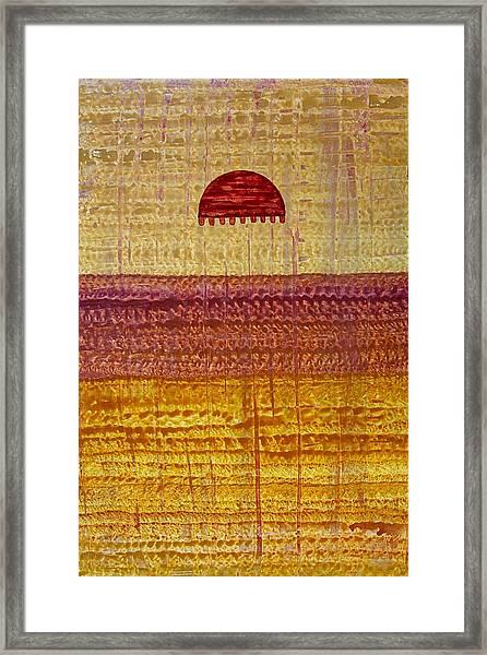 High Desert Horizon Original Painting Framed Print