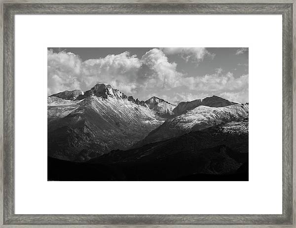 High Mountain Scenery, Trail Ridge Road Framed Print