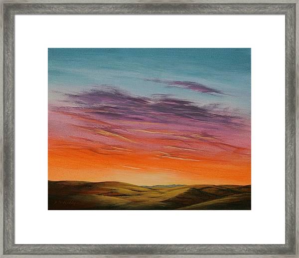 High Plains Sunset Framed Print by J W Kelly