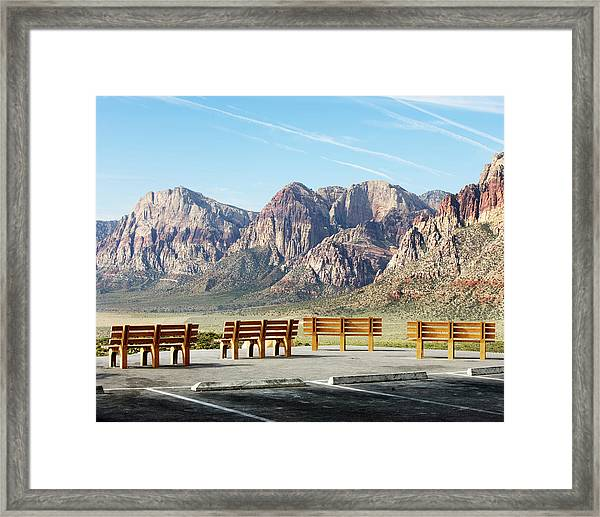 High Point Overlook, Red Rock Canyon Framed Print