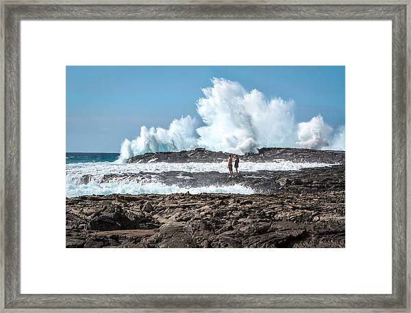 In Over Their Heads Framed Print