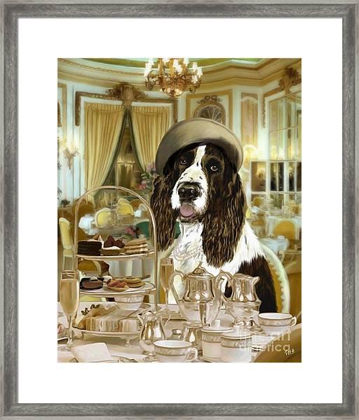 High Tea At The Ritz Framed Print