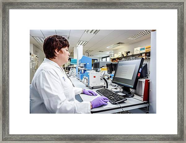High-throughput Screening Framed Print by Gustoimages