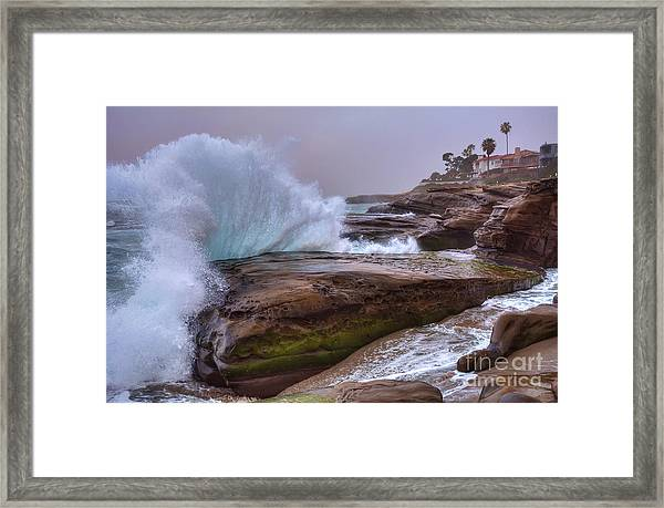 High Tide At Windansea Beach Framed Print
