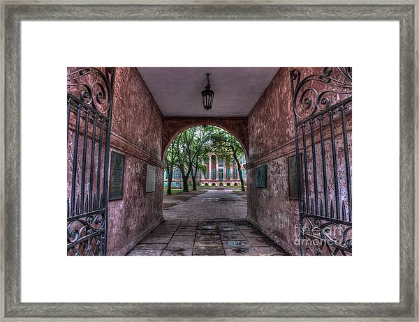 Higher Education Tunnel Framed Print