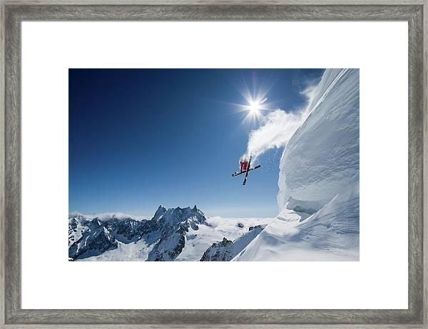 Higher Framed Print by Tristan Shu