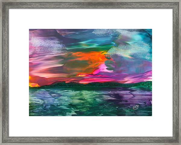 Highland Skies Framed Print