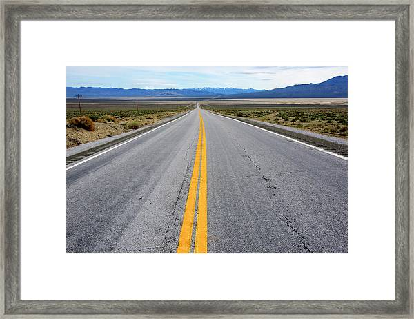 Highway 50, The Loneliest Road Framed Print