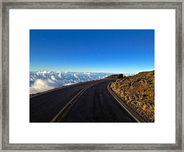 Highway To Heaven Framed Print by Bryan Hurlbut