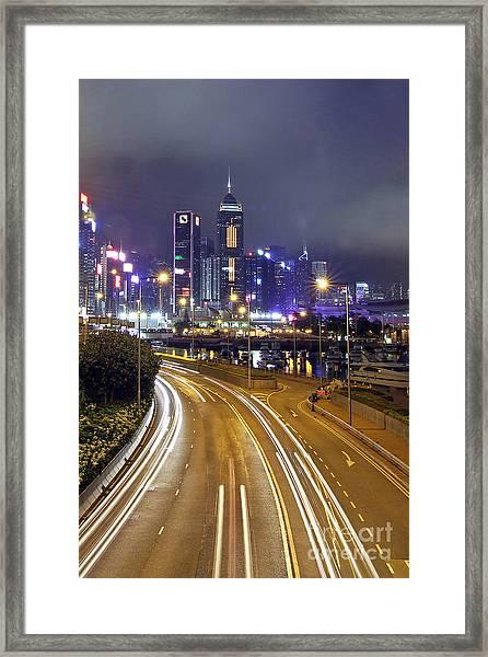 Highway To Hong Kong Framed Print by Lars Ruecker
