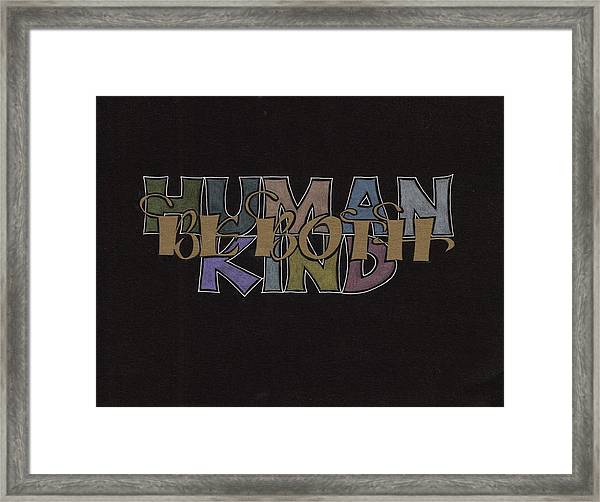 Highway Wisdom Framed Print