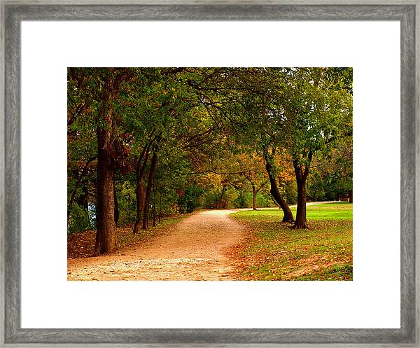 Hike And Bike Trail Framed Print