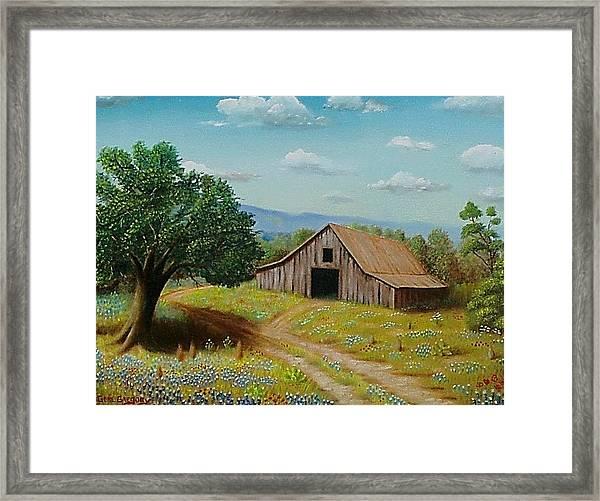 Hill Country Barn   Framed Print