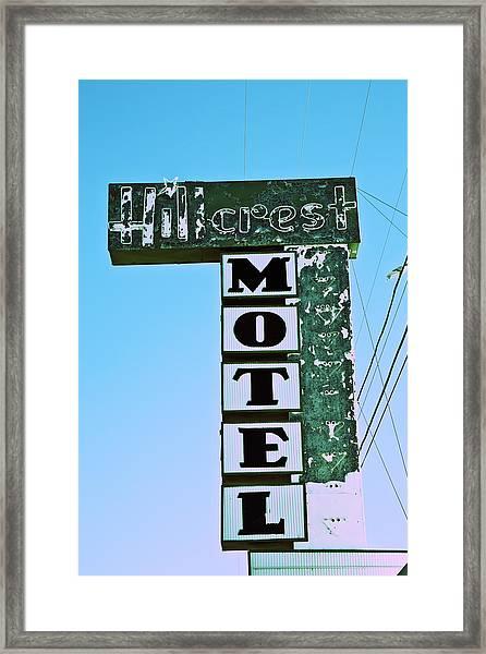 Framed Print featuring the photograph Hillcrest Motel by Gigi Ebert