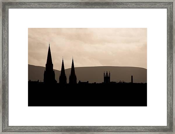 Hills And Spires Framed Print