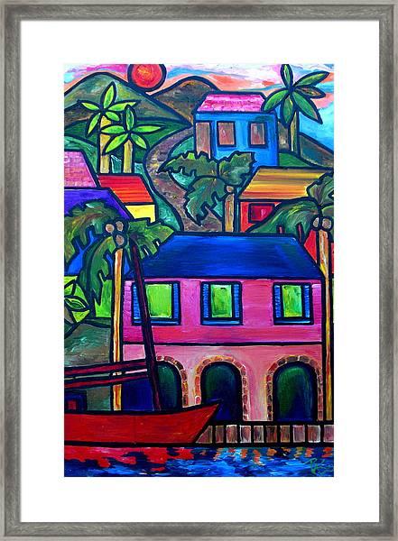 Hillside In St. John Framed Print