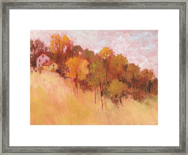 Hillside Trees Framed Print