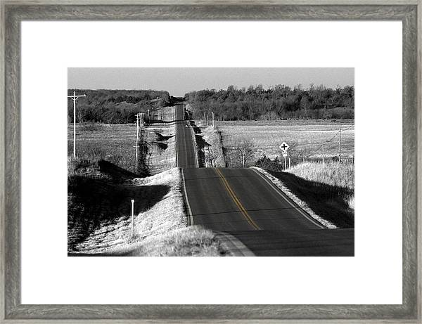 Hilly Ride Framed Print