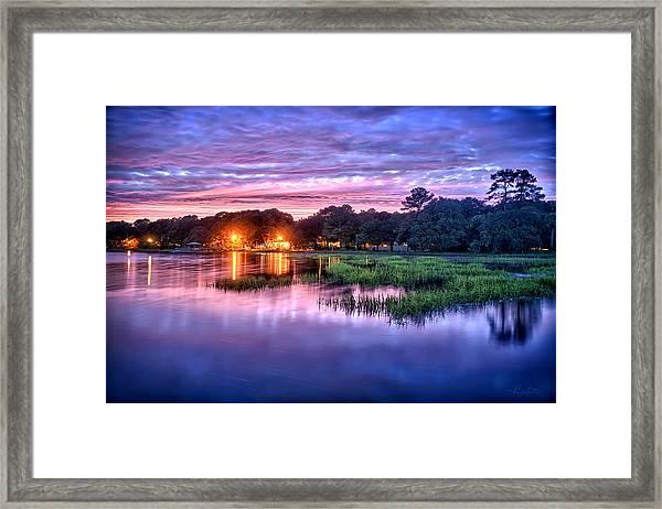 Hilton Head Evening Marsh Framed Print