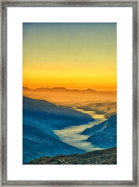 Himalaya In The Morning Light Framed Print