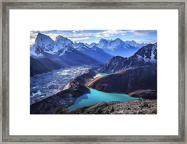 Himalaya Landscape, Gokyo Ri Framed Print