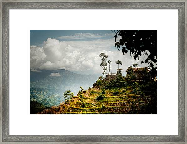 Framed Print featuring the photograph Himalayas Terrace Raimond Klavins Fotografika.lv by Raimond Klavins