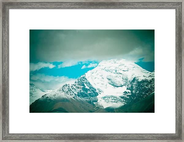 Himalyas Range Closeup View From Tibet Framed Print