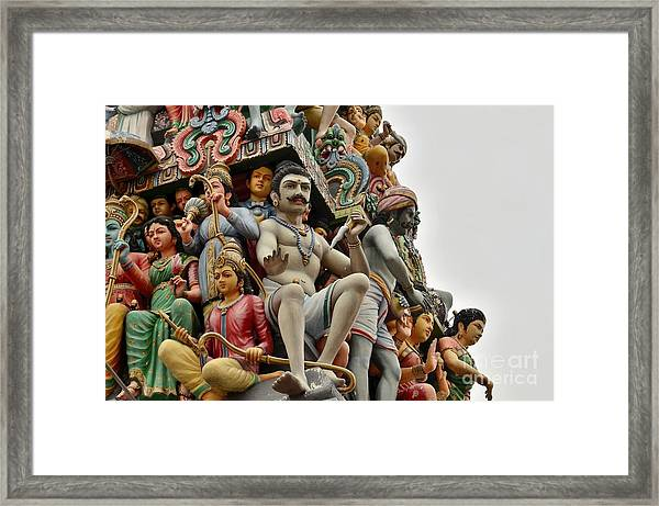 Hindu Gods And Goddesses At Temple Framed Print