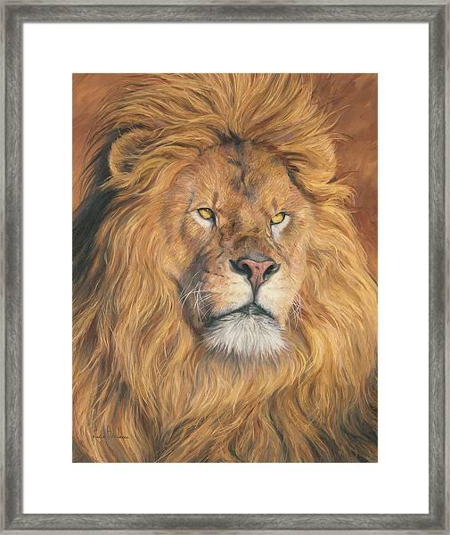 His Majesty - Detail Framed Print
